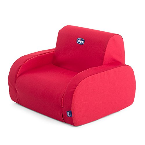 Chicco Twist Sillón para niños, transformable y desenfundable, 3 posiciones diferentes, color rojo (Red)