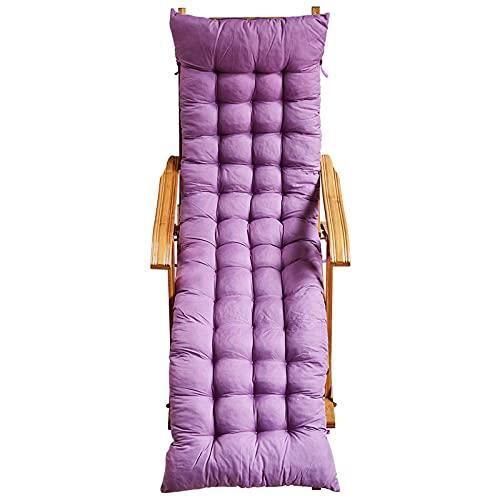 Silla Tumbona para La Silla De Mecedora De La Siesta De Bambú, con El Reposabrazos Y El Gusano Suave para Los Céspedes De La Piscina(Size:150cm Cushion,Color:púrpura)