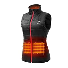 NEAT AND TAILORED DESIGN: Lightweight insulated for you to wear in many ways with unrestricted movement; Water and wind-resistant. KEEP YOUR BODY AND HANDS WARM: 4 carbon fiber heating elements generating heat across the collar, mid-back, as well as ...