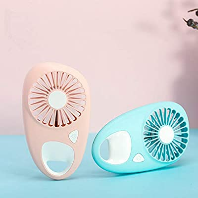 DeemoShop Portable Mini USB Fan Ventilation Foldable Air Conditioning Fans Hand Held Cooling Fan for Outdoor Travel Rechargeable Fan