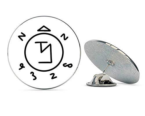 NYC Jewelers Supernatural Angel Banishing Sigil Metal 0.75' Lapel Hat Pin Tie Tack Pinback
