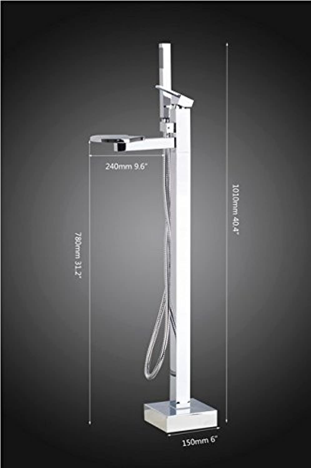 GOWE Bathtub Faucet Torneira Modern Single Handle Solid Brass Floor Standing Tub Shower Faucet +Hand Shower Mixers Taps