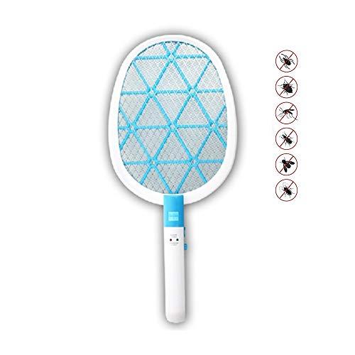 ZJJ LED Eléctrico Handheld Mosquito Swatter, Montado En La Pared del Asesino...