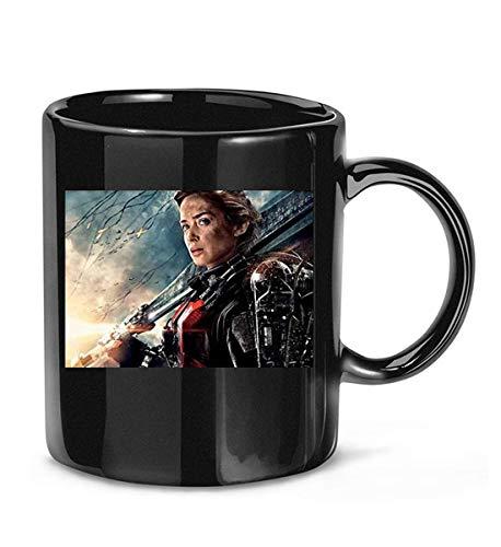 Edge of Tomorrow Photo Emily Blunt Portrait Shot affiche de film tasse à café drôle pour femmes et hommes tasses à thé