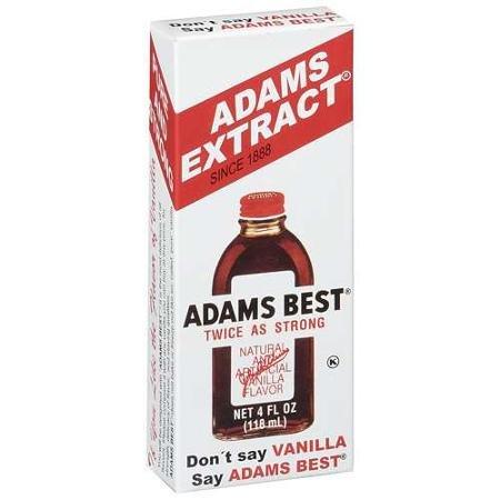 Adams Best Twice as Strong Vanilla 4oz Glass Bottle (Pack of 3)
