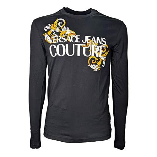 Versace Langarm-T-Shirt, Schwarz Large