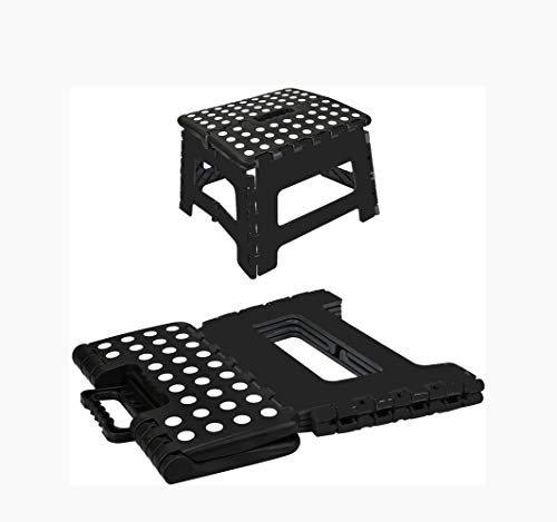 JUNSHUO Taburete Plegable Multiuso, plástico pequeño, hogar, escalón Superior, fácil de almacenar, Cocina y baño Antideslizante Plegable Taburete,– máximo 150 kg - 30 x 21,5 x 21,5 cm