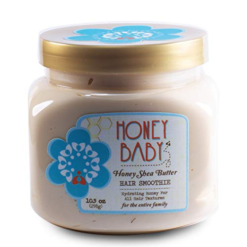 Honey Baby | Honey Shea Butter Hair Smoothie | Styling Cream for Curly Coily Textured and Wavy Hair | Sulfate and Paraben Free