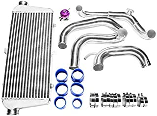 CXRacing FMIC Intercooler Kit + BOV For 89-99 Nissan 240SX S13 S14 Chassis with S13 SR20DET Swap