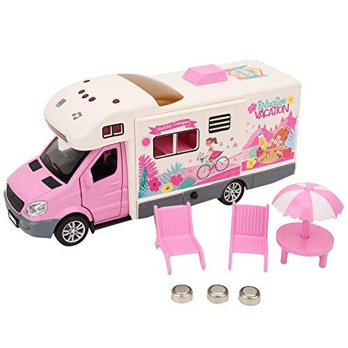 Tnfeeon Simulation Camping-Car, Caravane Classique de Jouets Happy RV modèle de Voyage avec Jeux de Sons de...