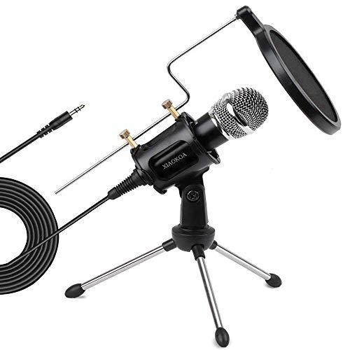 XIAOKOA profesión PC Micrófono, para teléfono, ordenador, iPad, Podcasting,...
