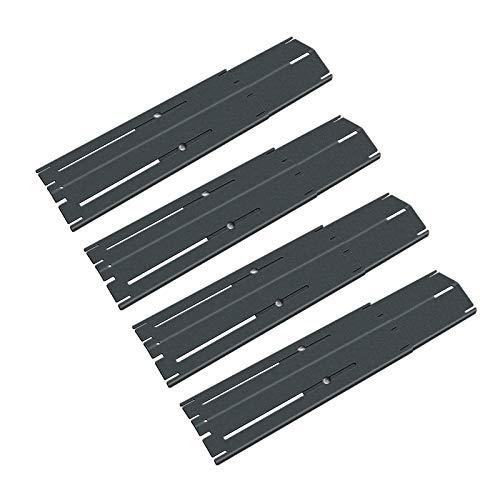 Denmay Grill Flammenverteiler, Heizplatte Ersatzteile, Strapazierfähiger Hitze Teller, Verstellbarer Porzellan Stahl Hitzeschild, Ersatz-Gasgrill, Länge von 29,85 cm bis zu 53,35 cm, 4 Pack