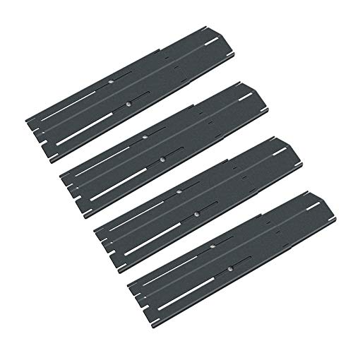 QuliMetal Universal Adjustable Porcelain Steel Heat Plate Shield, Heat Tent, Flavorizer Bar, Burner Cover, Flame Tamer for Brinkmann Charbroil Gas Grill, Extends from 11.75 up to 21 Inches (4-Pack) Grill Heat Plates