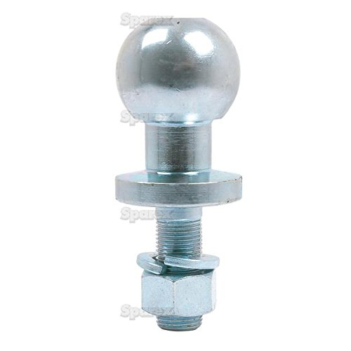 Enganche de bola bola de remolque patilla 50mm cromo Universal Quad ATV Heavy Duty 19mm