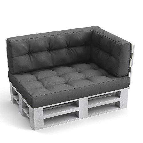 Vicco Palettenkissen Set Sitzkissen Rückenkissen Flockenfüllung Palettenmöbel