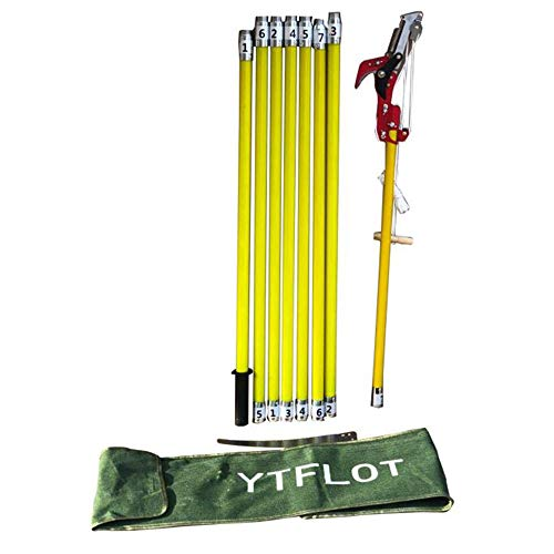 YTFLOT Tree Pole Saws 26 Foot Tree Pole Pruner Tree Pole Saw Trimmer Shear Cutter Fiskers Pruning Coconut Branch Loppers Hand Manual Pole Saws (Yellow)
