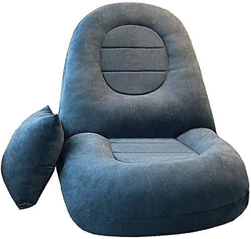 LJYHJ Mini sofá Perezoso balcón reclinable Silla Plegable Dormitorio sofá-Cama reclinable,Lake Blue