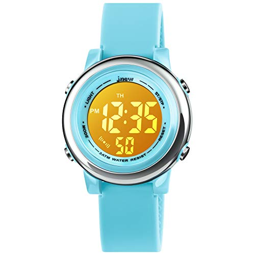 Kids Digital Sport Waterproof Watch for Girls Boys, Kid Sports Outdoor LED Electrical Watches with Luminous Alarm Stopwatch Child Wristwatch 3-12 Years