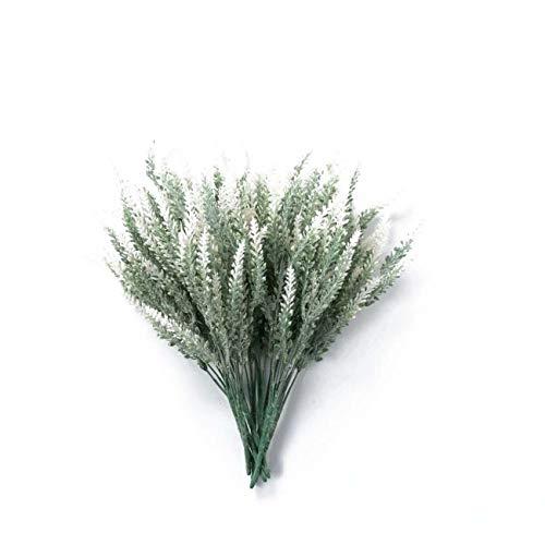 LERT 4 PCS Lavendel Kunstblumen für Home/Garden/Party/Hochzeit Dekoration, 6 Farben (Weiß)