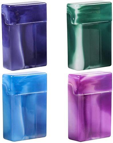 XIAOXIA Caja de cigarrillos de color pequeña caja de almacenamiento de residuos de plástico para cigarrillos, con compartimentos, estuche de plástico portátil para cigarrillos (color azul)