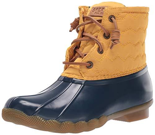 Sperry Womens Saltwater Chevron Quilt Nylon Boots, Yellow, 8.5