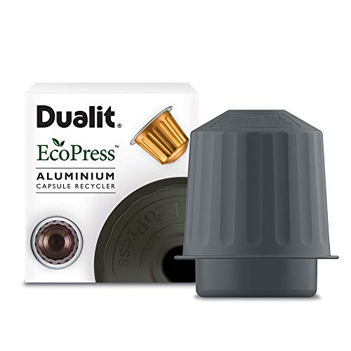 EcoPress Aluminium Coffee Capsule Recycling Tool by Dualit - Nespresso Compatible Recycler - Premium Eco Friendly Tool for Dualit & Nespresso Capsules & Coffee Grounds.