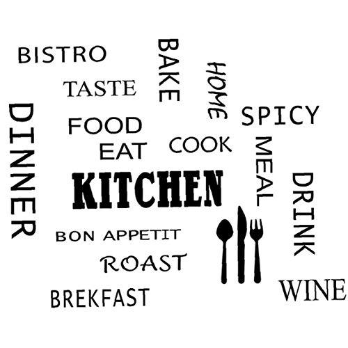 TOPofly Wand-Aufkleber Küche Nahrung Essen DIY entfernbare Wand-Zitate Aufkleber Wandaufkleber Wand Kunst-Wand-Kunst-Dekor-Raum-Dekoration 1pc für DIY