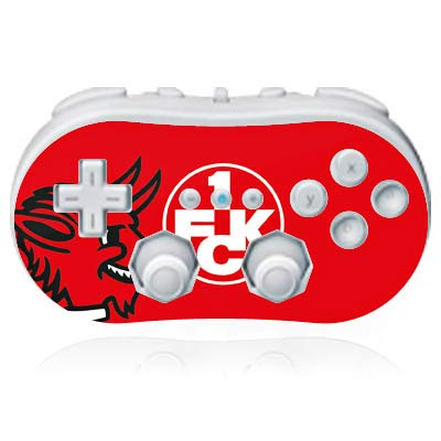 DeinDesign Skin kompatibel mit Nintendo Wii Classic Controller Folie Sticker Teufel 1. FCK 1. FC Kaiserslautern