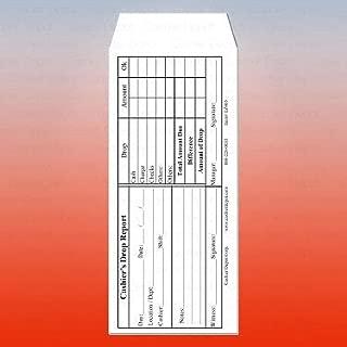 """Cashier Depot EZ465 Cashier's Drop Report, No.10 White Envelope, 4 1/8"""" x 9 1/2"""" (100 Envelopes)"""