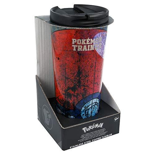 Stor Pokemon | Termo Café para Llevar - Taza Termica de Viaje Acero Inoxidable 425 ml | Vaso Hermetico para Te o Café sin BPA con Tapa Antigoteo
