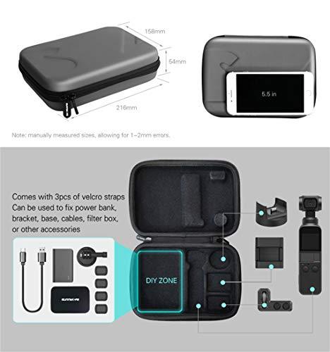 for DJI Osmo Pocket zubehör,wasserdichte tragbare Mini-Taschen-Aufbewahrungstasche Bag Storage Carry Case for DJI Osmo Pocket (Schwarz)