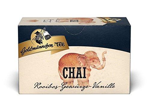 Goldmännchen Chai Tee, 20 einzeln versiegelte Teebeutel, 3er Pack (3 x 40 g)