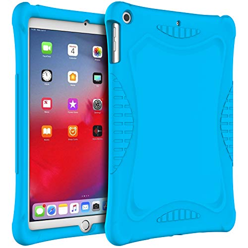 JETech Custodia iPad 9,7 Pollici (2018/2017 Modello, 6th/5th Generazione), Design Antiscivolo Adatto ai Bambini, Cover Protettiva Antiurto in Silicone Morbido, Blu