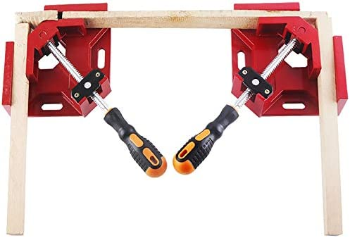 Right Angle Clamps 90 Degree Corner Clamp Holder Tools with Adjustable Swing Jaw for Woodworking product image