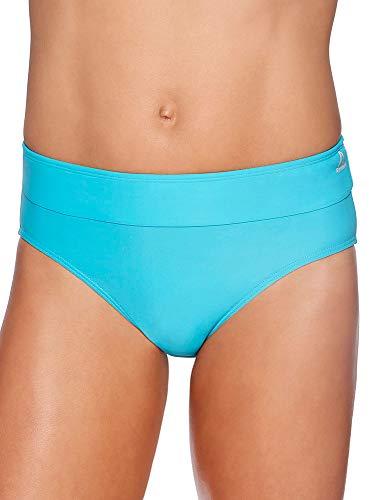 Reebok Lifestyle Women's Swimwear Drawcord Brief Bathing Suit Bottom, Electric Blue, Medium