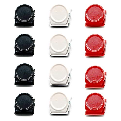 12Pcs Magnet-Metallclip, Magnetclips Kühlschrankmagnet Kühlschrank Whiteboard Wand Magnetische Notiz-Clip Metallclip.