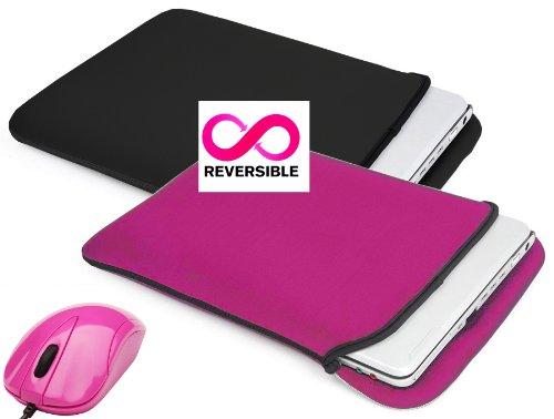 Targus 17.3 Zoll Laptop-Tasche / Neopren Laptop-Tasche mit Schultergurt und Tragegriff in rosa