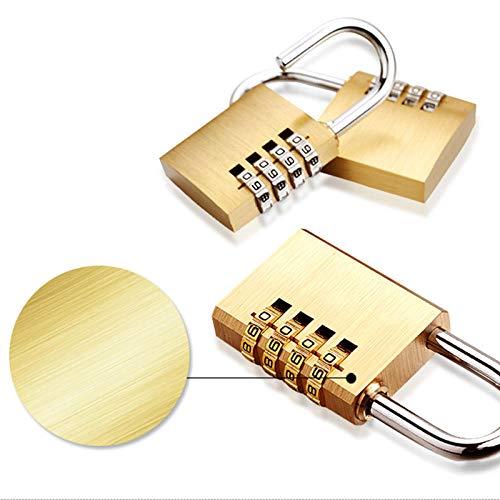 Sloten hangslot nieuw voor kamer koffer Travel Mini Security Tool 4 cijfers nummer Pure Cooper messing combinatie Lock wachtwoord Lock