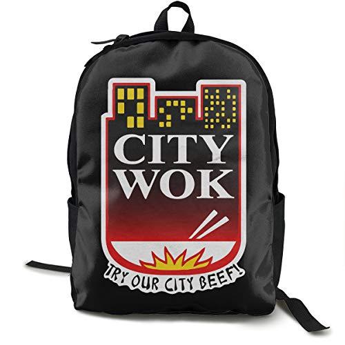 City Wok Rucksack, Daypack Tagesrucksack Für Schule, Arbeit Und Uni, Sportrucksack Und Schultasche Mit Laptopfach Und Rückenpolster