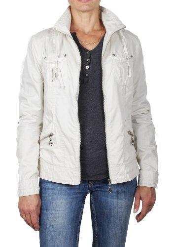 Grimada B826 dames overgangsjas Cotton Jacket Blouson (36, beige)