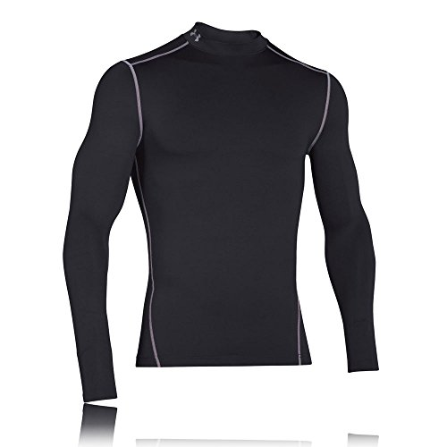 Under Armour Herren ColdGear Mock T-Shirt Schwarz, Dunkelgrau, S
