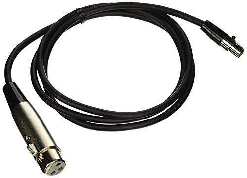 Shure WA3104-Feet micrófono adaptador de cable, conector mini de 4pines) a XLR (F) (TA4°F conector
