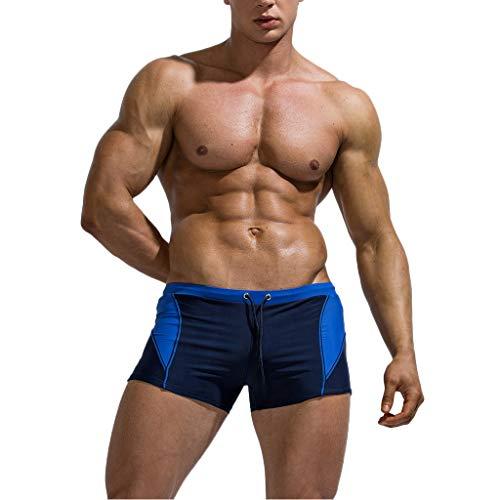 Herren Bademode Badeshorts,Männer Marke Stripe Sexy Nylon Breathable Bulge Slip Badehose,Männer Surfer Badehose Jogginghose Cargo Hose Kurze Hosen Sweatpants