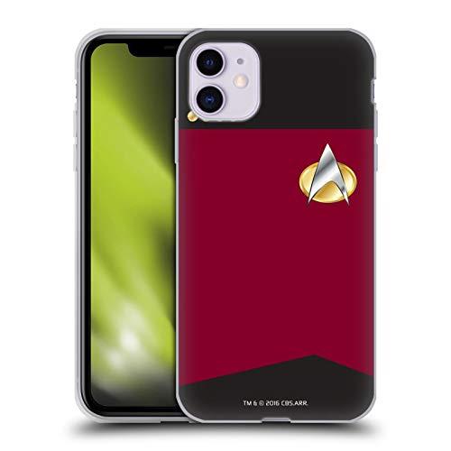 Head Hülle Designs Offiziell Offizielle Star Trek Captain Uniformen Und Plaketten TNG Soft Gel Handyhülle Hülle kompatibel mit Apple iPhone 11