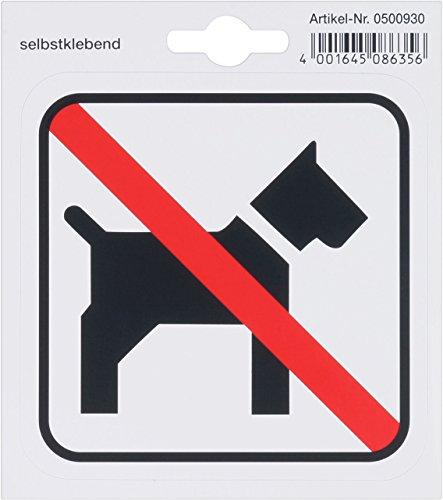 Metafranc Klebesymbol Hundeverbot - 110 x 110 mm / Beschilderung / Infoschild / Türschild / Verbotsschild / H&everbot / Gewerbekennzeichnung / 500930