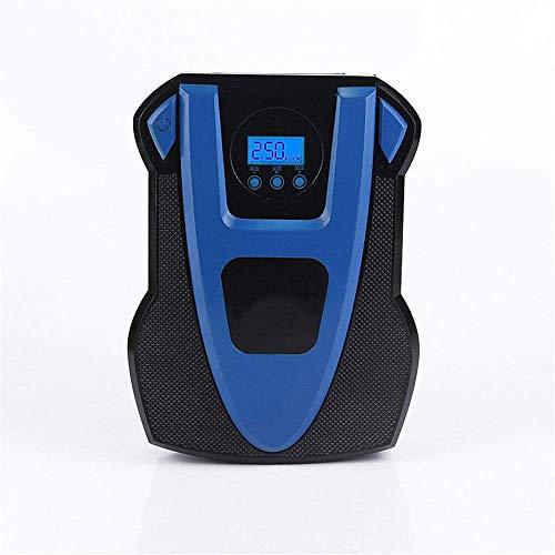 Bandenpomp digitaal, voor het oppompen van banden, voor auto, fiets, opblaasbaar, draagbare luchtcompressor, bandenpomp (kleur: zwart, afmetingen: 205 x 150 x 78 mm) dmqpp Zwart