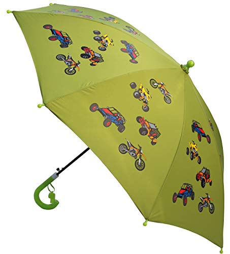 Foxfire for Kids Solid Pattern Umbrella Lime Green ATV Quad Dirt Bike