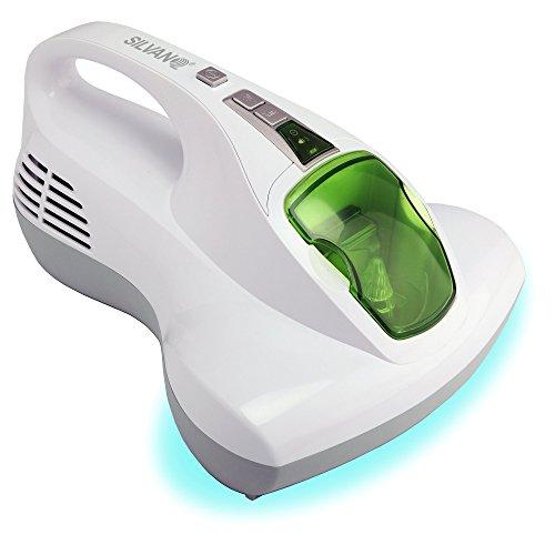 SILVANO Aspirador de Camas. Aspirador higienizador de colchones, Almohadas, sofás y Cortinas con Doble luz UV-A y Filtro HEPA Multicapa