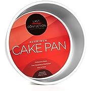 "Last Confection 8"" x 4"" Deep Round Aluminum Cake Pan - Professional Bakeware"