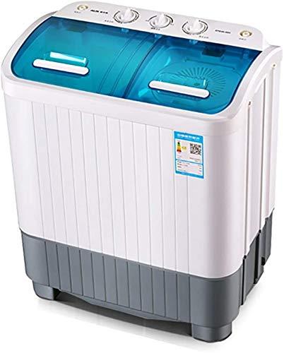 Lavadora Mini bañera portátil Tina con gemelo Lavadora y secadora de spin Combo Compact for camping Dorms Apartamentos, capacidad de lavado 5.6kg, capacidad de secado 5kg ( Size...